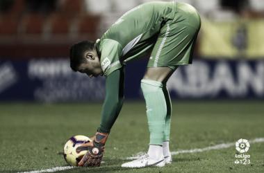 Lizoain en el partido frente al Lugo | LaLiga 1|2|3