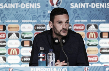 Lloris in his pre-match press conference ahead of the game (photo: UEFA)