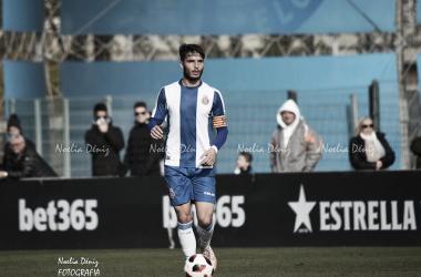 Lluís López, durante un partido con el filial perico / Foto: Noelia Déniz (VAVEL).