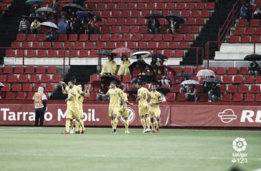 El Alcorcón celebra un gol ante el Nástic | LaLiga 123.