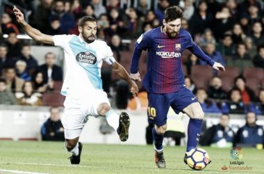 Leo Messi in azione contro il Depor. Fonte: LaLiga.es