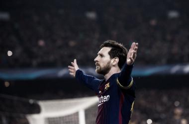 Leo Messi. Fonte: UEFA Champions League/Twitter