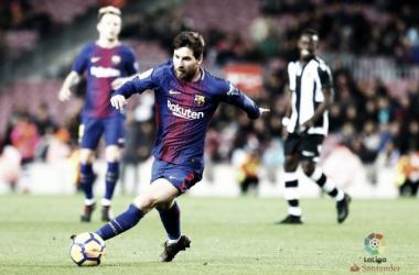 Leo Messi in azione contro il Levante. Fonte: LaLiga.es