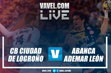 CB Ciudad de Logroño vs ABANCA Ademar León. Fotomontaje: Óscar Oliván.
