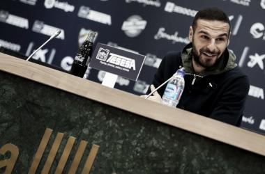 David Lombán en rueda de prensa.   Foto: Málaga CF