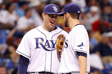 Asking who did more for the Rays: Longoria or Shields is like asking who was better between NFL HoF duo Warren Sapp and Derrick Brooks or Rock and Austin. Everybody has a preference, but you can't deny either. (Photo Credit: CBSSports.com)