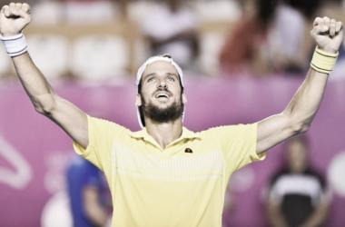 Feliciano Lopez celebrates his victory over Pablo Carreno Busta. (Photo: Mextenis)