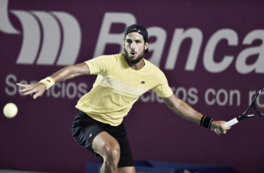 Feliciano Lopez in action during the second day of Los Cabos Open. Photo: Mextenis