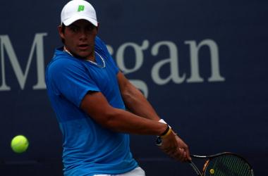 López Villaseñor luchó y sufrió en el Morelos Open. Foto via: ITF