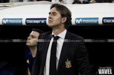 Julen Lopetegui durante un encuentro al frente de la selección | Fotografía: Daniel Nieto (VAVEL)