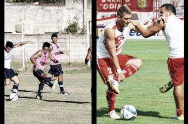 Entrenamientos. Juventus y Los Andes respectivamente. (Fotos: Facebook ofiaciales Prensa Juventud y Los Andes)