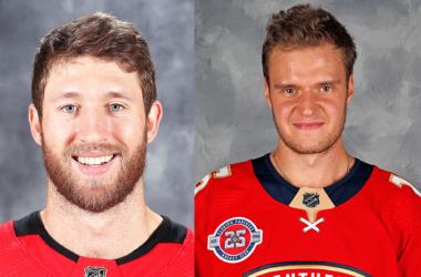 Jaccob Slavin Carolina Hurricanes y Aleksander Barkov de Florida Panthers | Foto:NHL