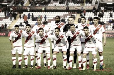 Formación del Rayo Vallecano durante un partido | Fotografía: La Liga