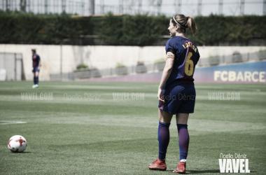 Vicky Losada, durante un partido. | Foto: Noelia Déniz (VAVEL)