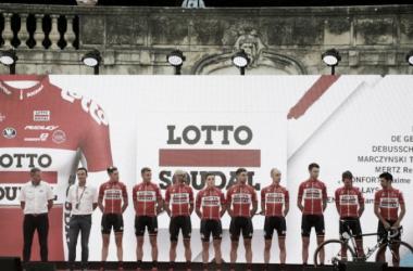 El Lotto-Soudal en la presentación de La Vuelta | Fuente: Miguelez