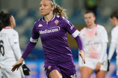 Louise Quinn returns to a WSL pitch when Fiorentina face Manchester City on Wednesday.  Photo by Gabriele Maltinti via Getty Images.