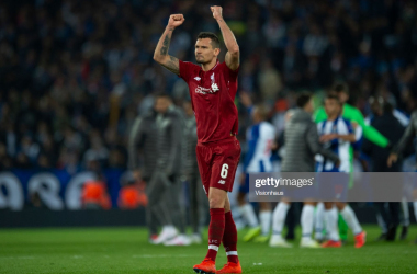 Dejan Lovren started Liverpool's 2-0 victory against Porto in the Champions League, but may miss out on Sunday against Chelsea (Getty Images)