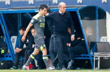 Lozano tras su expulsión l Foto: PSV