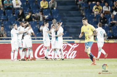 Celebración de uno de los goles del Deportivo. / Imagen: LaLiga