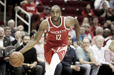 The Houston Rockets are losing an underrated piece of their roster in Luc Mbah a Moute. Photo: Erik Williams/USA TODAY Sports.