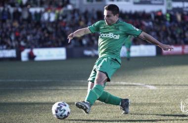 Luca Sangalli en el partido de este pasado domingo ante el Ceuta. Imagen: Real Sociedad