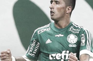 Barrios festeja un gol en el Palmeiras. Foto: ABC