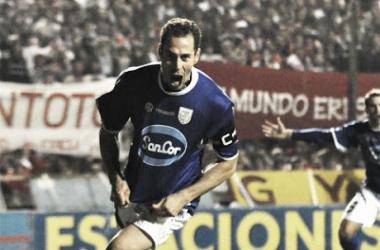 Gol histórico ante Unión. // Foto: Desde el tablón.