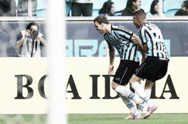 Luan e Lucas Coelho são destaques da partida na vitória do Grêmio (Lucas Uebel/Grêmio)
