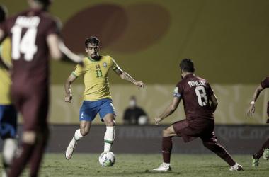 """Apesar da dificuldade, Paquetá ressalta que Brasil chegou ao objetivo: """"Sair com a vitória"""""""