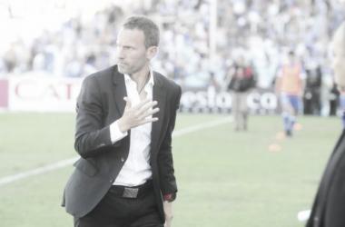Lucas Bernardi en el partido de hoy. FOTO: Web.