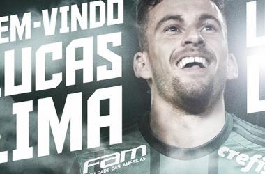 Palmeiras oficializa contratação de meia Lucas Lima por cinco anos (Foto: Divulgação/Palmeiras)