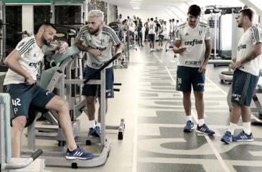 Com caras novas, Palmeiras se reapresenta na Academia de Futebol ( Foto: Divulgação/SE Palmeiras)