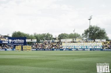 Tifo de la afición amarilla en el último partido ante los vallecanos   VAVEL