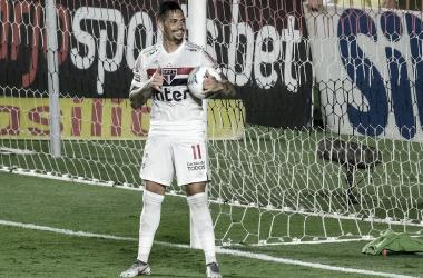 Luciano em São Paulo 1 a 1 Palmeiras (São Paulo FC / Divulgação)