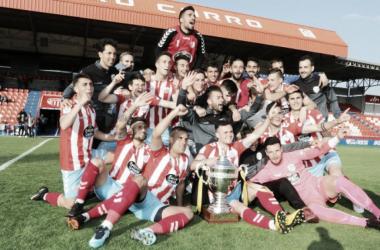 El filial rojiblanco se proclama campeón una jornada después de certificar el ascenso //Fuente: CD LUGO