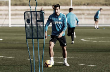 Luis Hernández entrenando. | Foto: Málaga CF