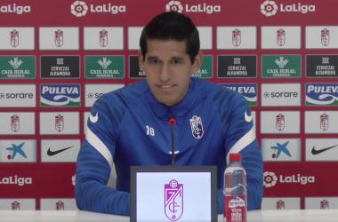 Luis Abram en la rueda de prensa | Foto: Granada CF - Youtube
