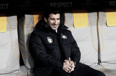 Luis Figo while in charge at Inter in 2011   Photo: Martin Rose/Bongarts