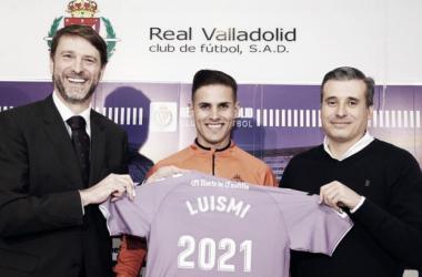 """Luismi: """"quiero crecer en este club"""" // FUENTE: Real Valladolid C.F."""