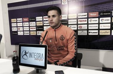 Luismi, en rueda de prensa   Real Valladolid