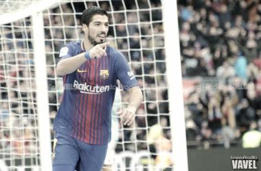 Suárez, celebrando un gol | Foto: Noelia Déniz - VAVEL