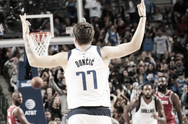 Luka Doncic tras su memorable actuación frente a Houston Rockets | Foto: SLAM