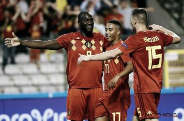 Com dois gols, Lukaku garantiu a vitória da Bélgica (Reprodução /Belgian Football)