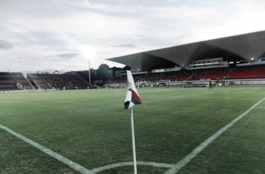 Estádio Luso-Brasileiro em seu formato atual (Foto: Divulgação/Portuguesa-RJ)