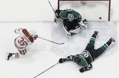 Imagen de la derrota de los Canucks esta pasada madrugada frente a los Oilers | Fuente: NHL.com