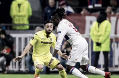Lyon vence Villarreal em casa e vai com vantagem para o jogo da volta na Liga Europa