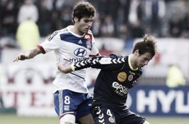 Resultado del Olympique de Lyon - Reims en la Copa de la Liga 2014 (3-2)