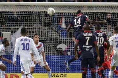 En dépit de leur supériorité dans le jeu, les Bordelais ont du partager les points à Lyon. (Photo : AFP)