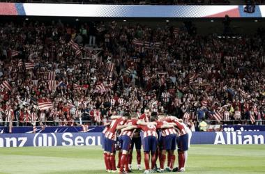 Piña del Atlético de Madrid   UEFA