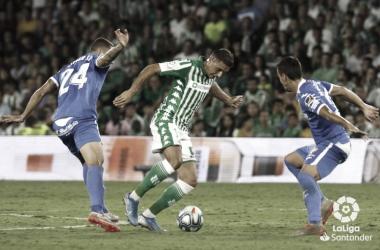 Joaquín durante el encuentro de Betis y Getafe. Foto: Laliga Santander